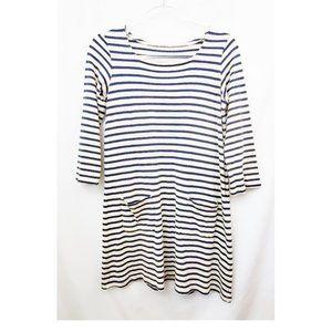 MUJI Japan Breton Stripe Cotton Shift Dress GUC